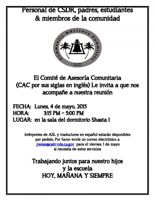 CAC meeting flyer - May 4_Sp (2)