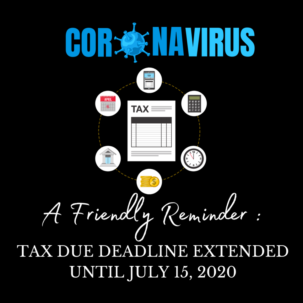 Tax Extended to July 15th