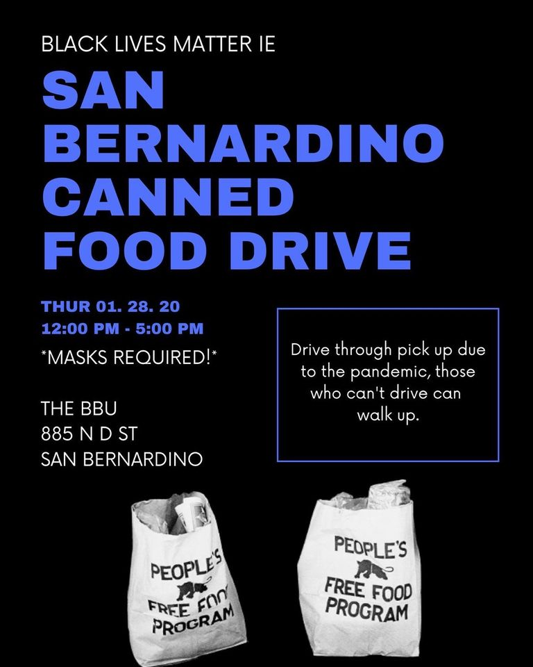 BLM IE Food Drive