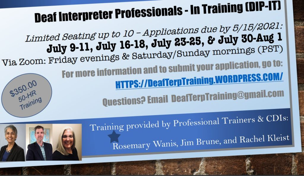 Deaf Interpreter Professional training