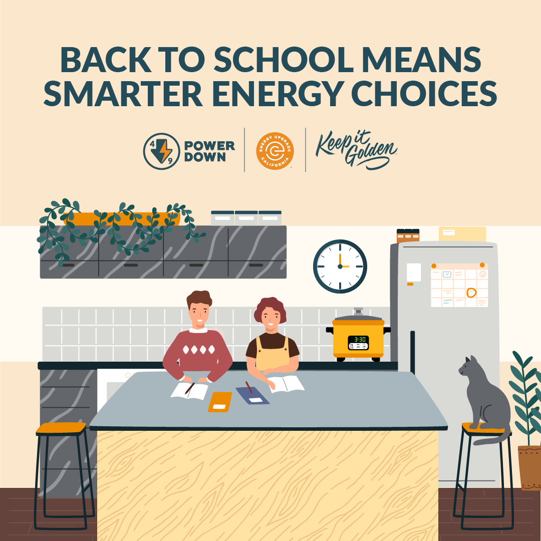 It's back to school season and as classes begin, don't forget to be mindful of when you're using energy. At the end of the school day, power down computers, lights, and more to help use more clean energy! #KeepItGolden.