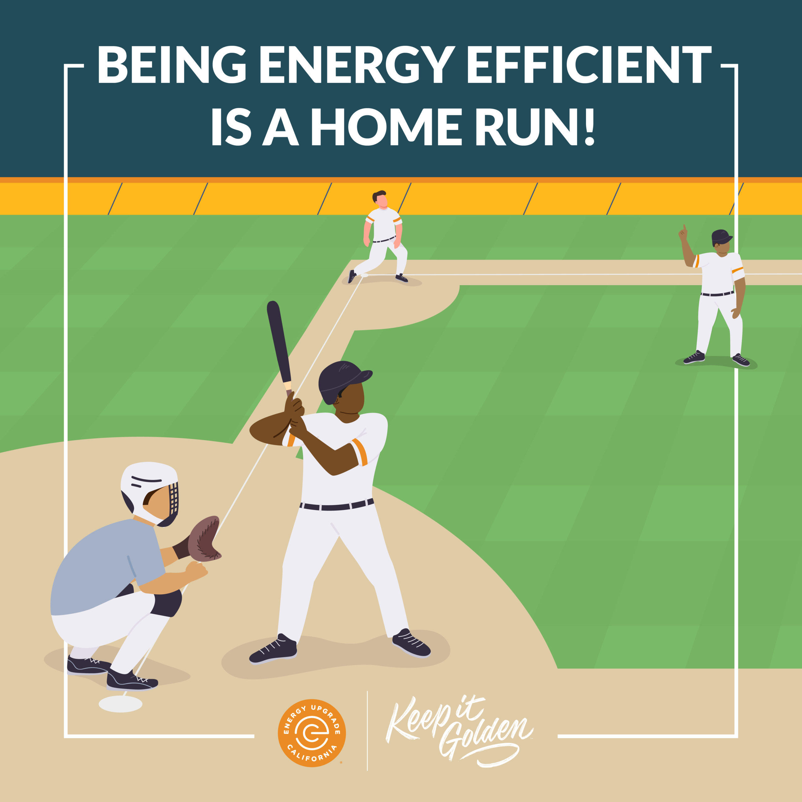 The World Series is back! As you gather around to root for your favorite team, be sure to power down other appliances and devices. When we power down from 4-9 to use more clean energy, it's a win for everyone! #KeepItGolden