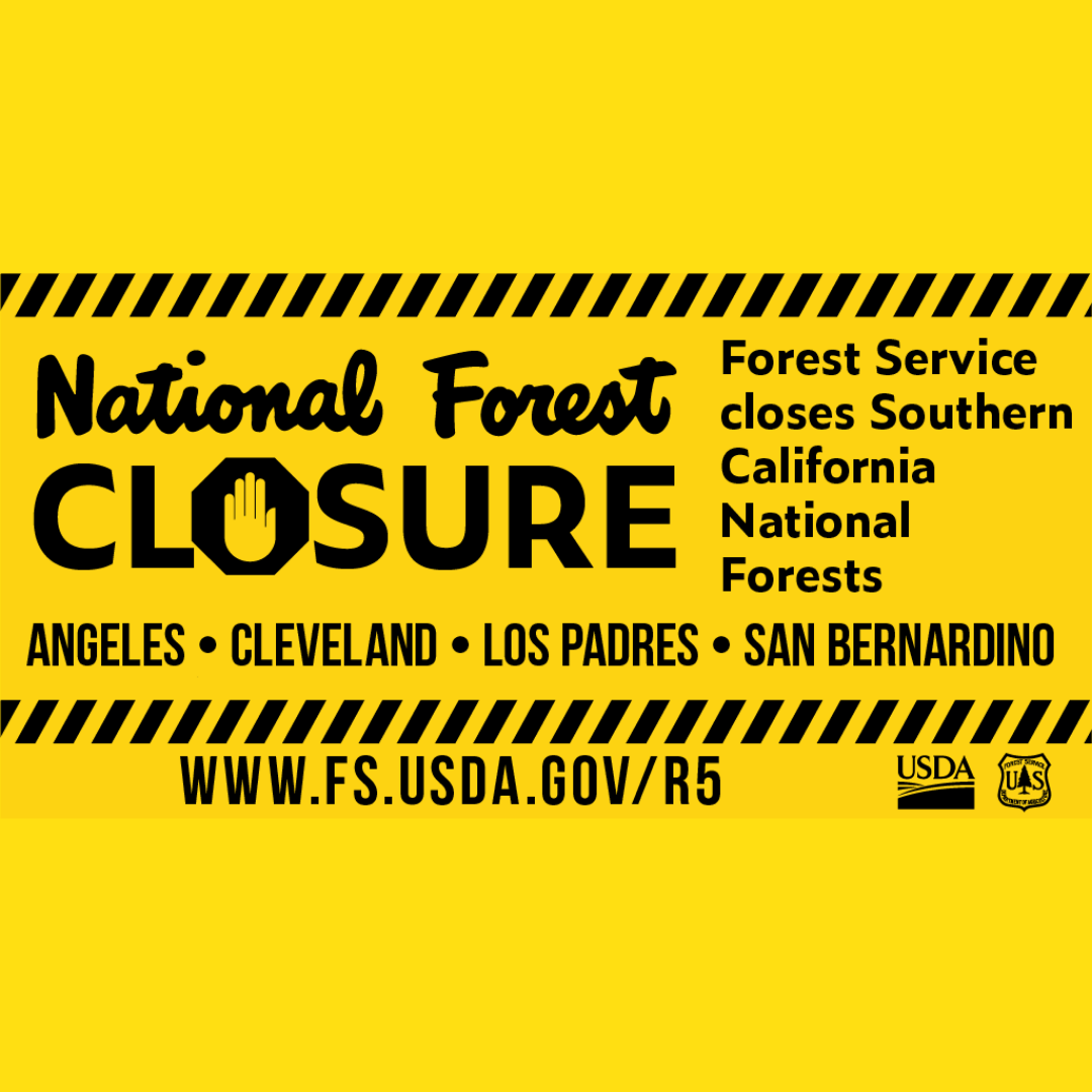 Due to ongoing high fire danger and active wildfires across the West, Cleveland National Forest officials have extended the current forest-wide emergency closure order through midnight on Sept. 22, more info at https://fs.usda.gov/cleveland/